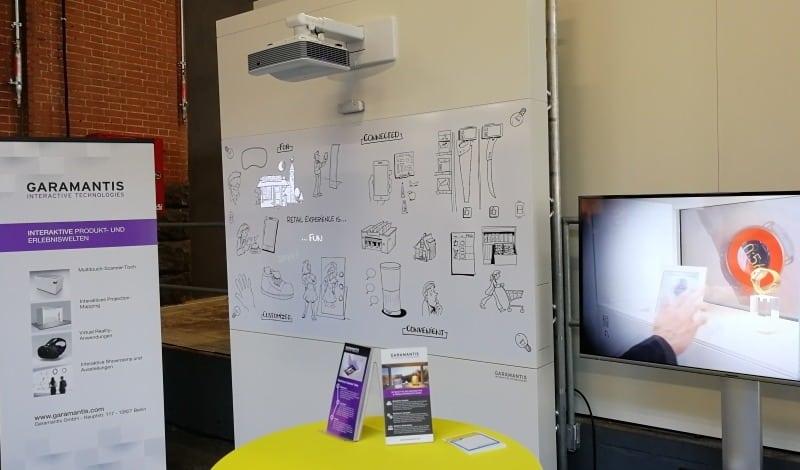 Interaktives Projektion Mapping am Messestand