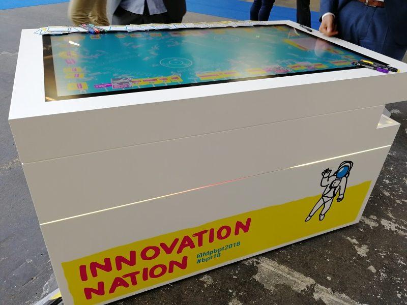 Multitouch-Scanner-Tisch zum Thema Innovationen