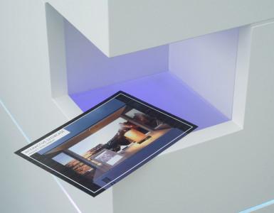 Multitouch-Scanner-Tisch erkennt optisch Objekte