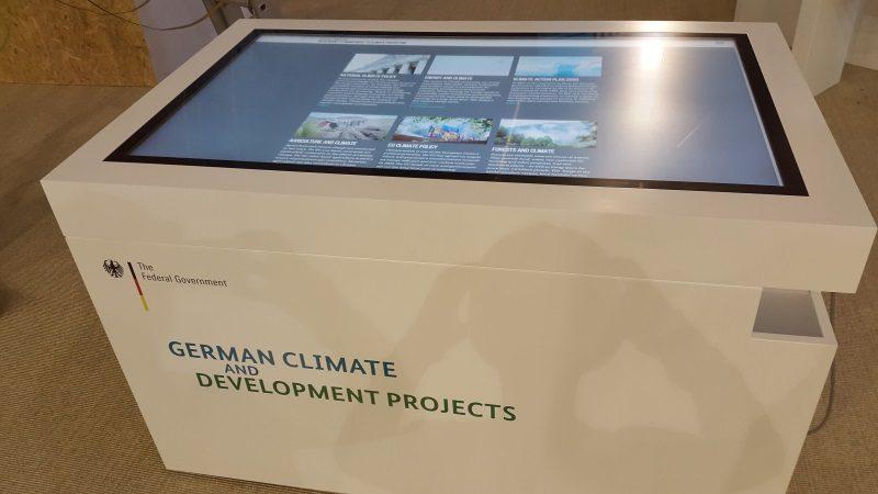 Multitouch-Tisch auf der Klimakonferenz in Bonn