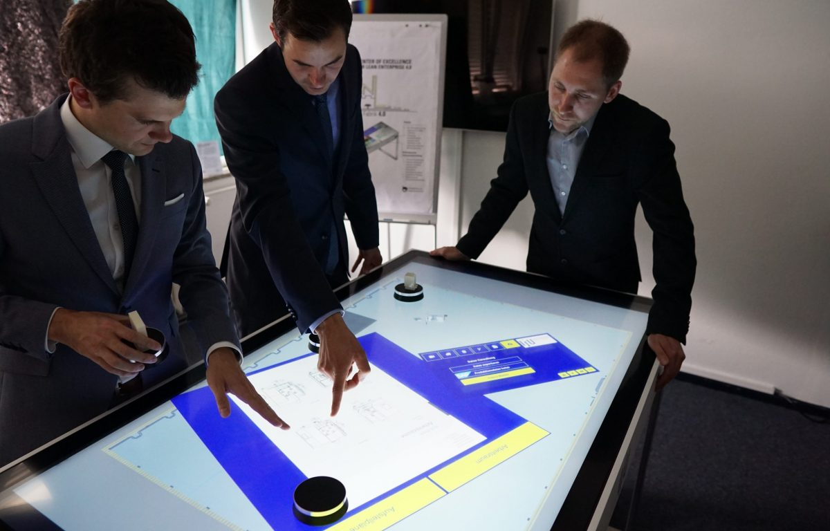 Kollaborative Multitouch-Software mit kapazitiven Markern
