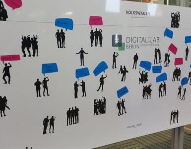 Shadowgram auf der VW Digital Lab Eröffnung in Berlin präsentiert