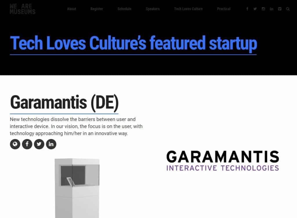 """Garamantis auf der """"Tech Loves Culture"""" Konferenz in Riga"""
