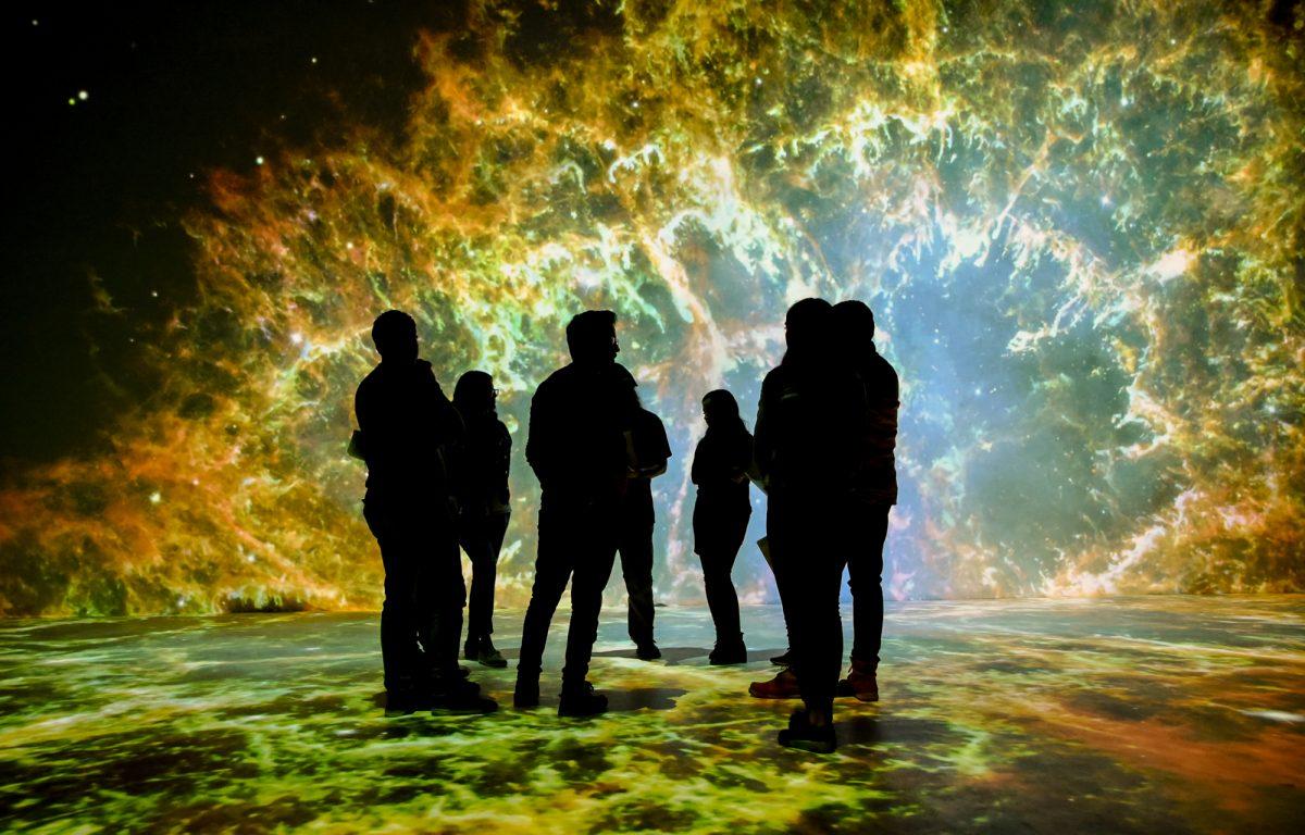 Immersiver Projektionsraum für große Gruppen im Science Center Sinaloa