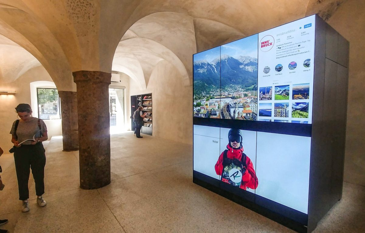 Video-Wall mit 3x2 Monitor Grid