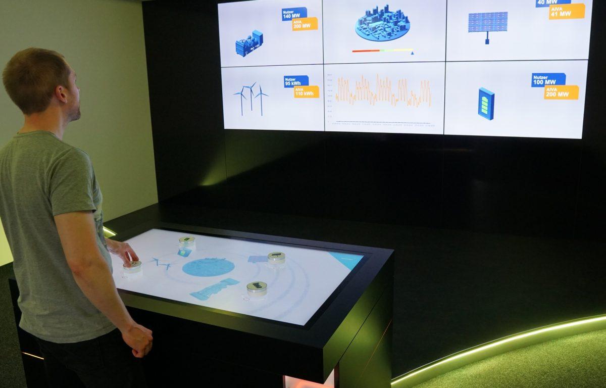Das Multitouch-System steuert die Lichtstimmung im gesamten Showroom