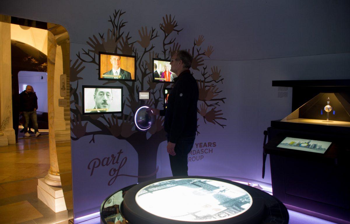 Centerpiece des Vergangenheits-Pavillons in der interaktiven Ausstellung