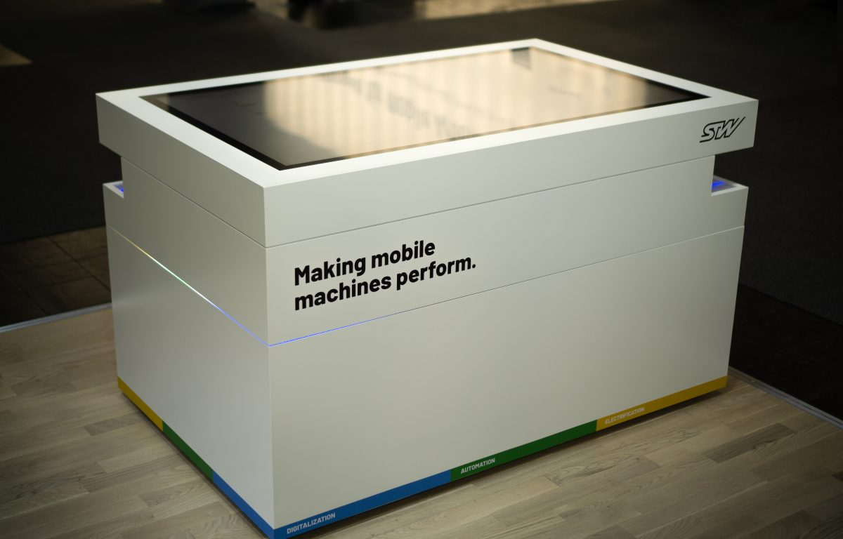 interactive sales stations in the form of multi-touch scanner tables