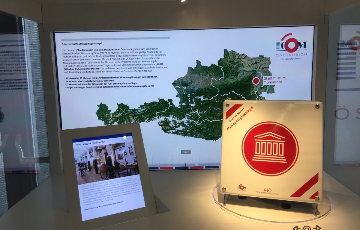Interactive Touch Showcase - Austrian Museum Day 2016