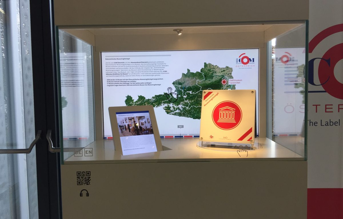 The interactive showcase presented the winners of the Austrian Museum Quality Seal at the Austrian Museum Day