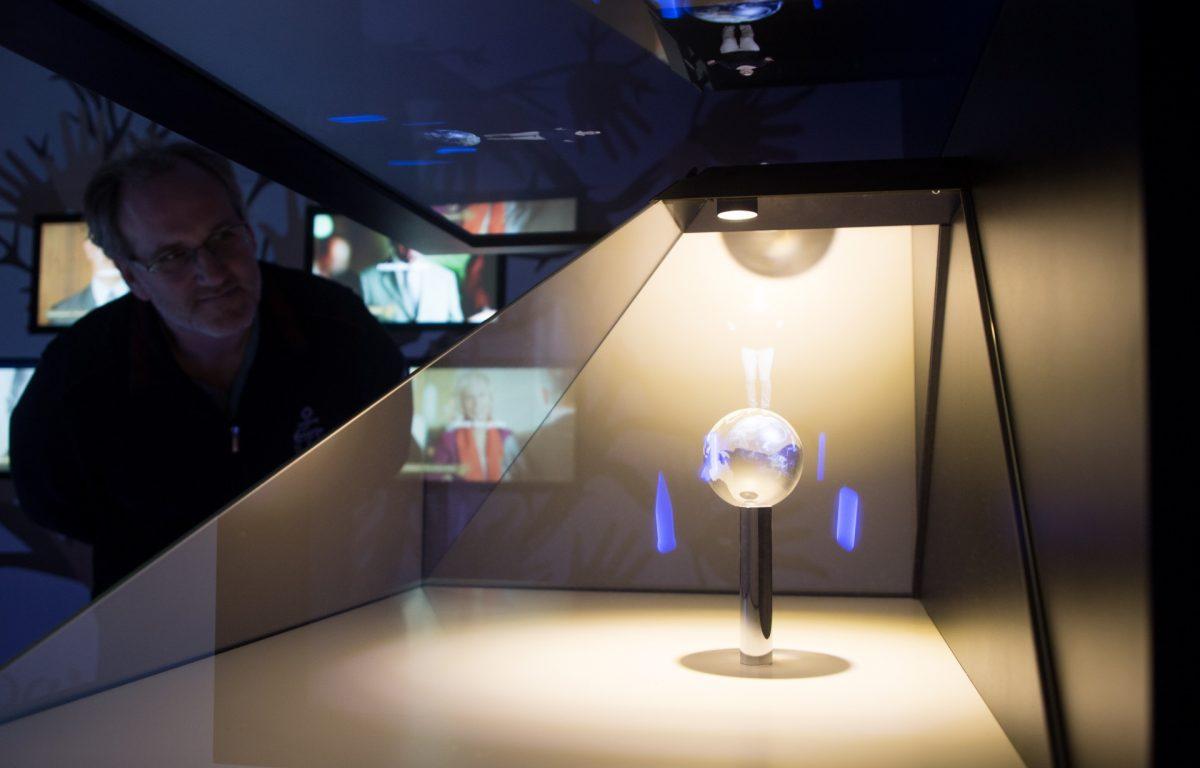 Hologramm-Vitrine im Weltmuseum Wien