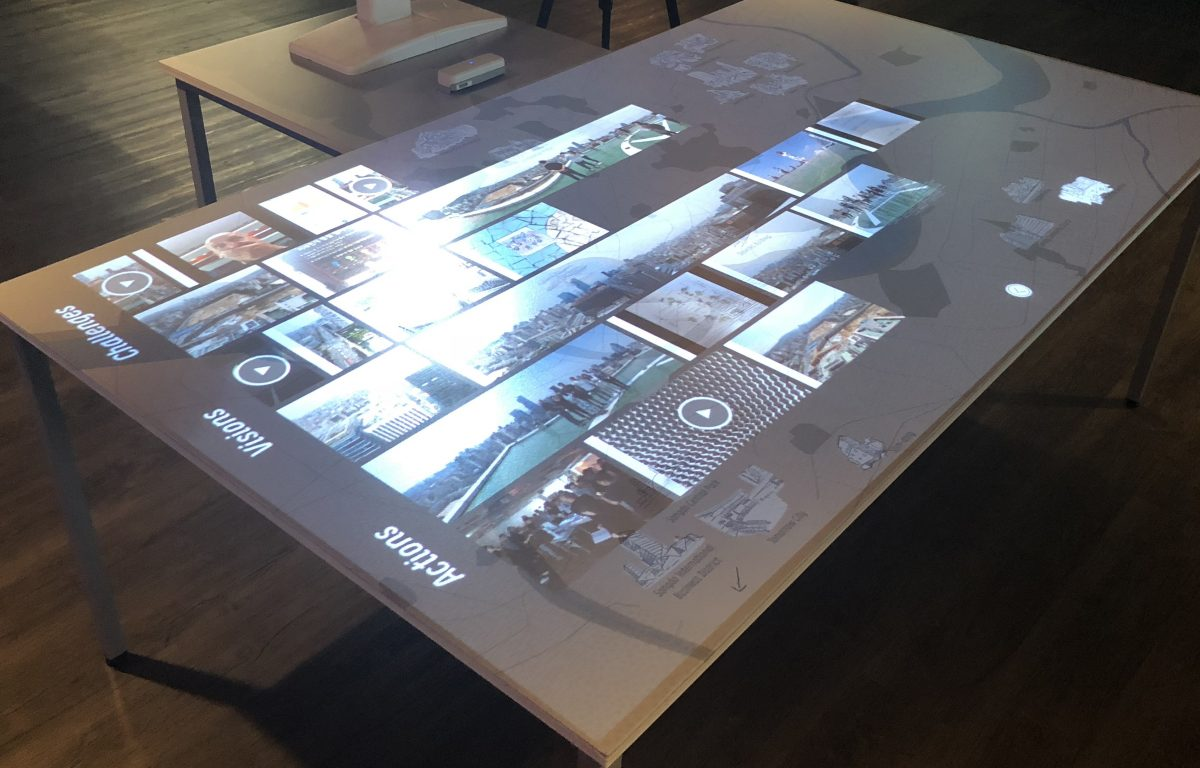 Multitouch Projection Mapping in table form