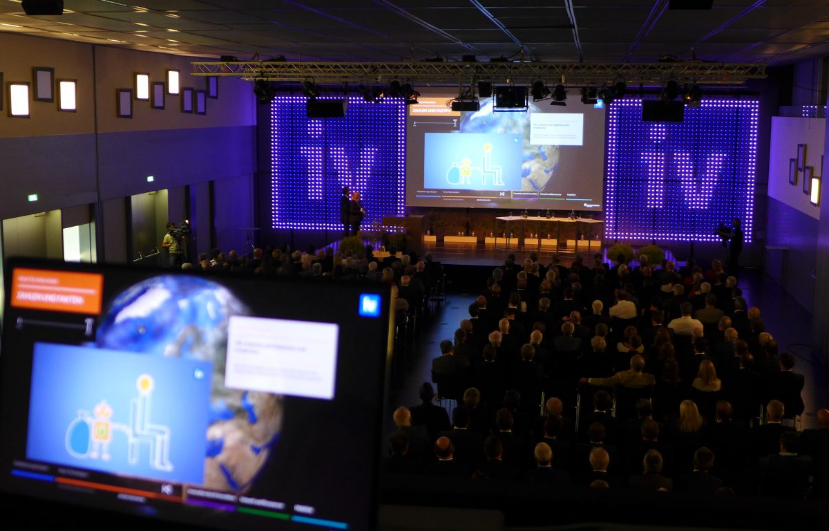 Stage show with projection of the Federation of Austrian Industry