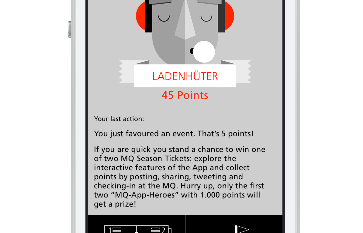 Mobile iPhone App für MuseumsQuartier Wien