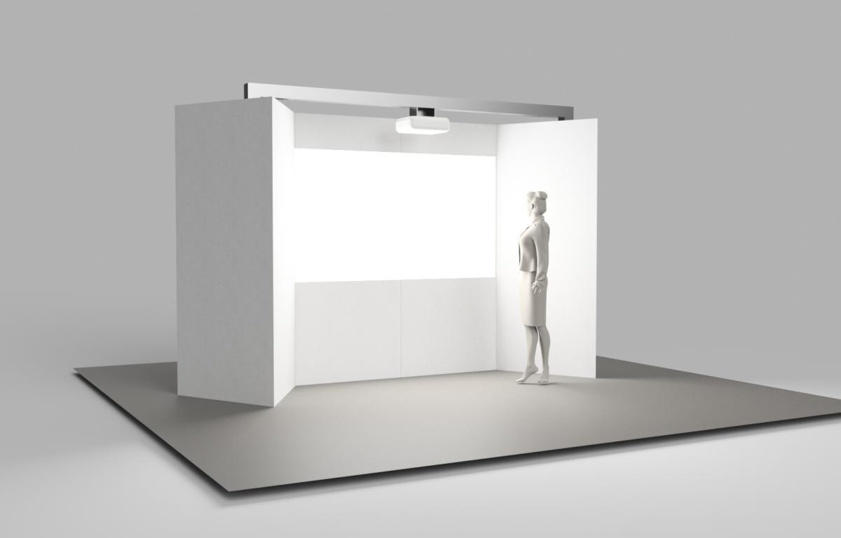 interaktives Messemodul zum Thema Einkaufen in der Zukunft