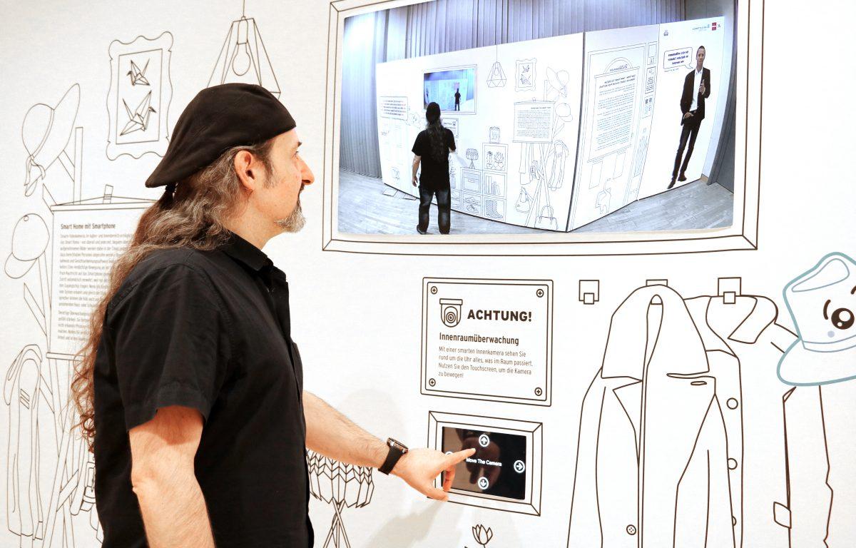 Interactive smart home exhibition presents camera surveillance
