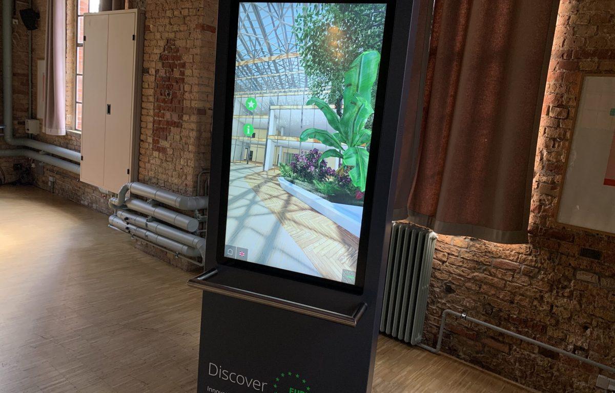 Interaktiver Drehscreen gibt immersive Einblicke in die Mobilität der Zukunft