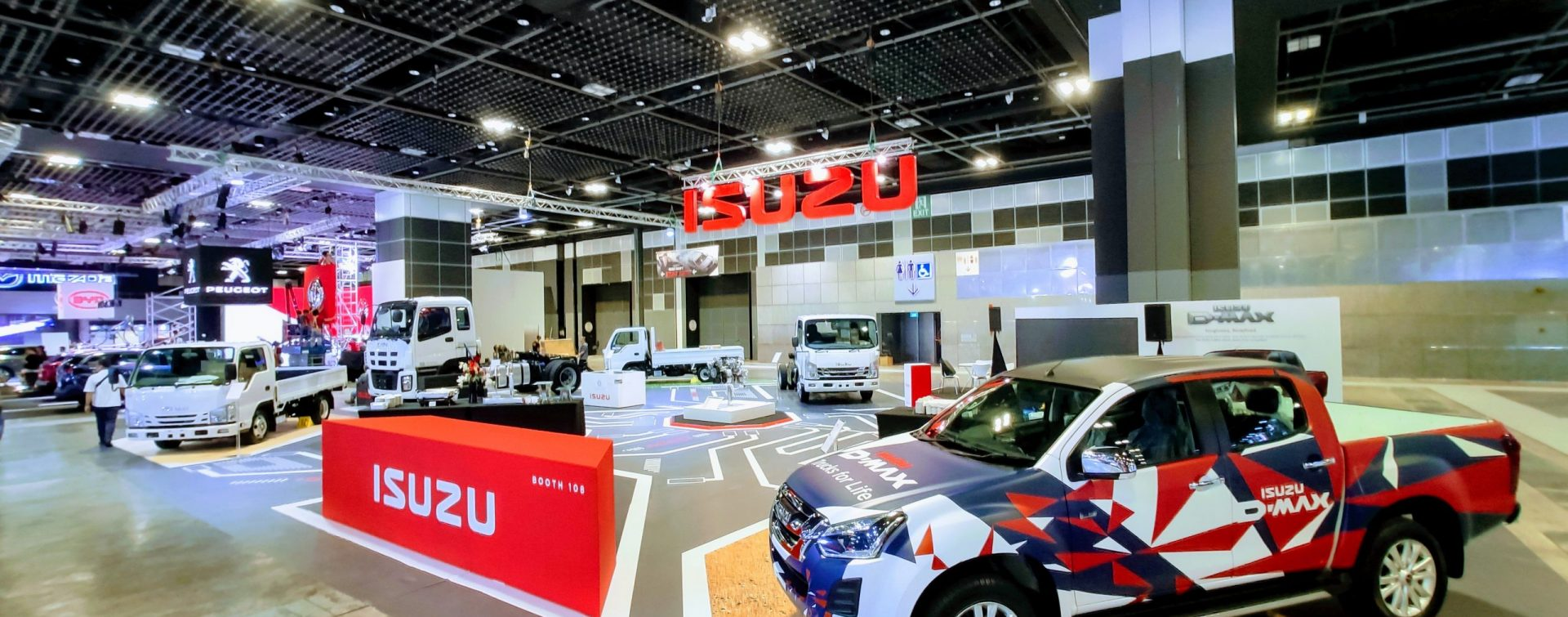 Singapore Motorshow isuzu Messestand
