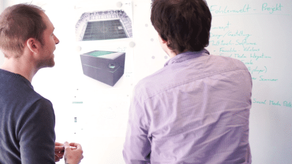Garamantis designs interactive projects on whiteboard