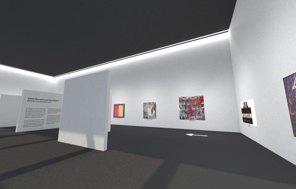 Mit nahezu jedem beliebigen Endgerät (egal ob VR-Brille, Smartphone oder PC) kann die virtuelle Galerie der Einheit betreten und erkundet werden.