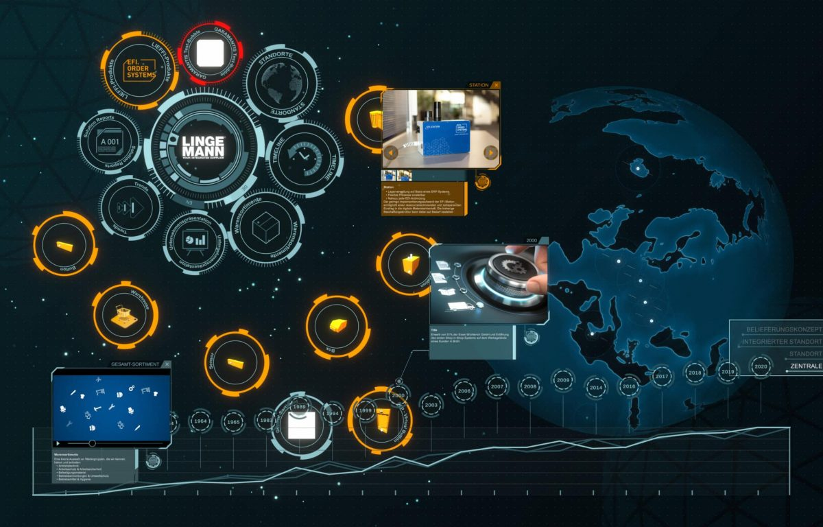 Multitouch-Software im JARVIS AI Look
