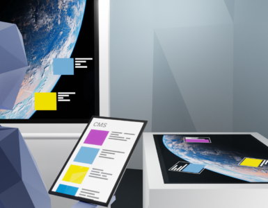 Content management system for multitouch table