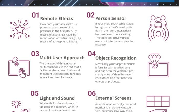 7 tipps for an outstanding multitouch experience - infographic